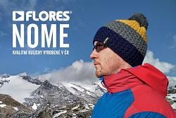 Unisex čepice FLORES Nome - tm. modrá/hořčicová