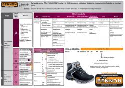 Normy bezpečnostní obuvi