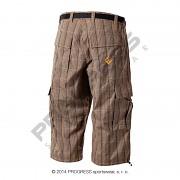 Pánské 3/4 kalhoty PROGRESS Oreb 3Q - hnědá kostka