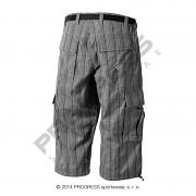 Pánské 3/4 kalhoty PROGRESS Oreb 3Q - šedá kostka