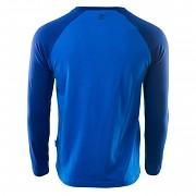 Pánské triko HI-TEC Puro LS - victoria blue/mazarine blue