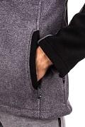 Pánská fleecová mikina HI-TEC Monar - šedá/černá