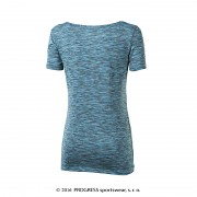 Dámské funční triko PROGRESS Melissa - tyrkysový melír