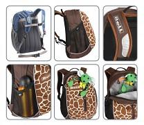 Dětský batoh BOLL Roo 12 l - ukázka vychátev a doplňků