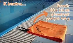 Ručník FLORES Trip Towel L - oranžová