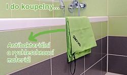 Ručník FLORES Trip Towel L - zelená