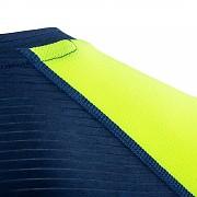 Pánské funkční triko KLIMATEX Atid - modrá/žlutá neon