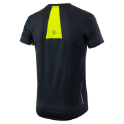 Pánské funkční triko KLIMATEX Jafar - antracit/žlutá neon