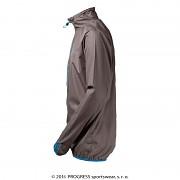 Ultralehká bunda PROGRESS Aero Running - sv. šedá/modrá