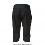 Dámské sportovní 3 4 kalhoty PROGRESS Sahara 3Q - černá tyrkysová ... 830e1bb417