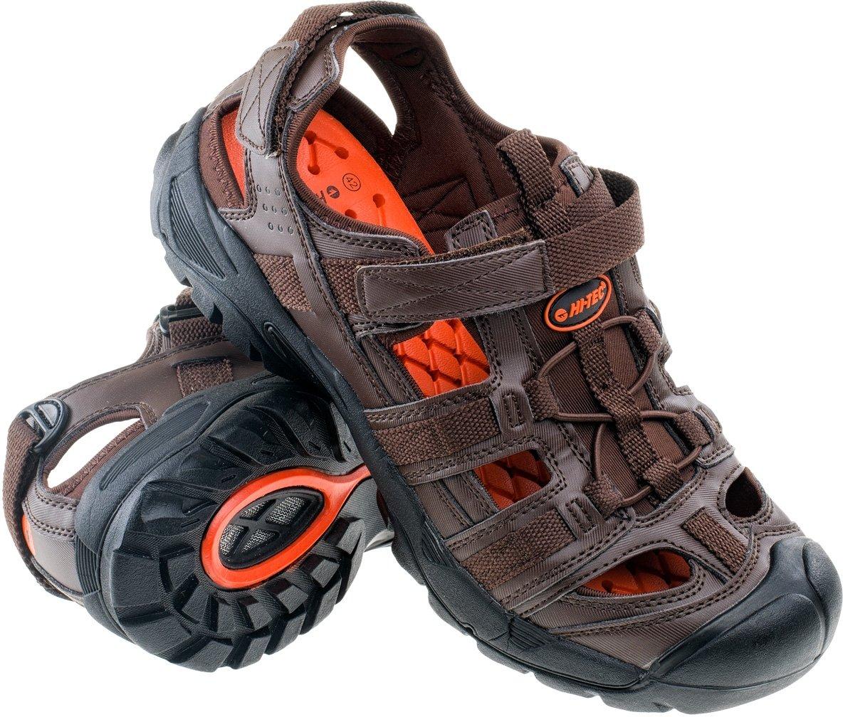 Pánské outdoorové sandále HI-TEC Sativ - brown black orange - vel ... 1e1070a3ef