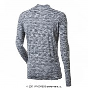 Pánské funkční triko PROGRESS Skinner - černý melír