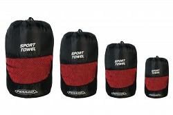 Ručník FERRINO Sport Towel - jednotlivé velikosti při sbalení