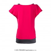 Dámské triko PROGRESS Taiko - růžová/šedá