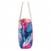 Plážová taška AQUAWAVE Marimo 20 l - ensign blue palm print