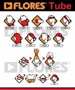Tubus - multifunkční šátek FLORES Tube Logo - použití