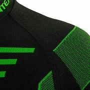 Pánské funkční triko KLIMATEX Croul - černá/zelená