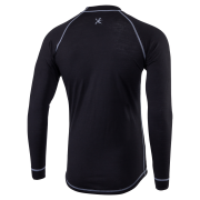 Pánské merino triko KLIMATEX Ment - černá
