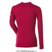 Dětské termo triko PROGRESS WS TDRD - tm. růžová