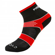 PROGRESS Cycling Sox - černá/červená