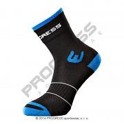 PROGRESS Walking Sox - černá/modrá