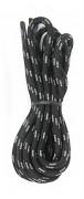 FLORES Lace Dot - černá/šedá - 125 cm