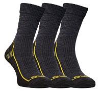 FLORES Merino LT - šedý melír/žlutá - set 3 párů