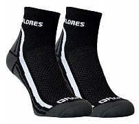 FLORES Active - černá/bílá - set 2 párů