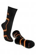 BENNON Trek Sock - black/orange