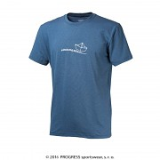 PROGRESS Barbar - modrý melír - lodička