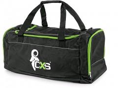CXS sportovní taška 60x30x30 cm - 54 l - černá/zelená