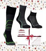 Vánoční set FLORES Socks 3-Pack