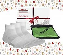Vánoční set FLORES Sport Pack - bílá/zelená
