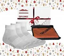 Vánoční set FLORES Sport Pack - bílá/oranžová
