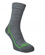 FLORES Merino LT - sv. šedý melír/zelená neon