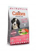 CALIBRA Dog Premium Line Junior Large 12 kg + 3 kg ZDARMA