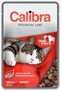 CALIBRA Cat kapsa Premium Adult Chicken & Beef 100 g
