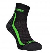 FLORES Active - černá/neon zelená - vel. 36-38