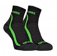 FLORES Active - černá/neon zelená - set 2 párů