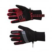 PROGRESS Snowsport Gloves - černá/červená - vel. XS