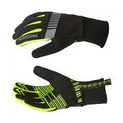 PROGRESS Snowsport Gloves - černá/reflexní žlutá