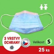 GENERAL PUBLIC PROTECTION rouška dětská GPP - modrá - 25 ks